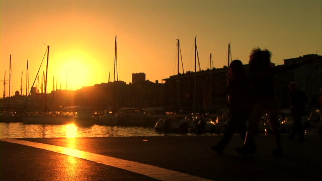 HD: People Walking On Marine Promenade video