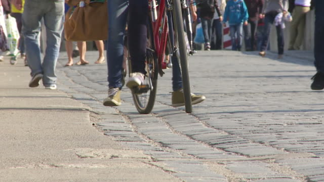 People Walking On Permeable Paving video