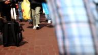 People Walking on Sidewalk video