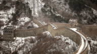 People Walking on The Great Wall of China in Winter video