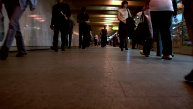 People walking underground in Moscow. video