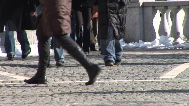 HD: People Walking video