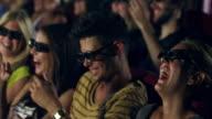 People watching 3D movie video
