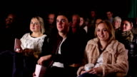 People watching Film at the cinema, Theatre (Comedy) video