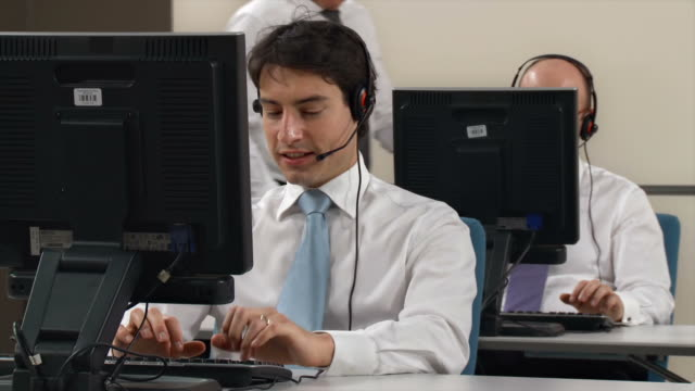 HD: People Working In Customer Support Center video