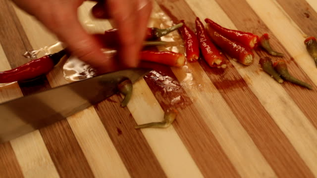 Peppers chopping video