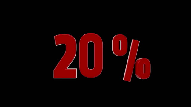 20% percent discount animation video