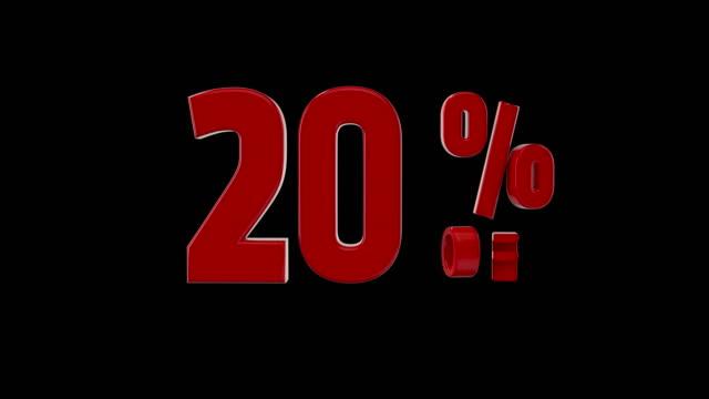%20 percent off icon animation video
