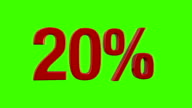 Percentage Animation 10%, 20%, 30%, 40%, 50% and 60% video