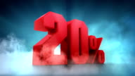 Percentage animation. 10% 20% 30% 40% 50% video