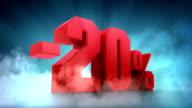 Percentage animation. -10% -20% -30% -40% -50% video
