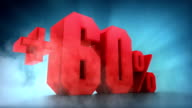Percentage animation. +50% +60% +70% +80% +90% +100% video