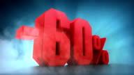 Percentage animation. -50% -60% -70% -80% -90% -100% video