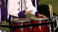 Percussions with marching band video