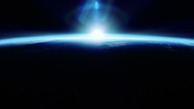 Perfect blue sunrise seen from space video