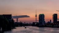 Perfect evening to night Timelapse of Berlin via the River Spree video