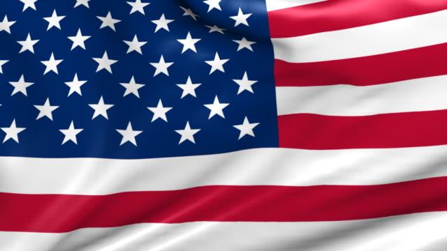 perfect loop: US Flag video