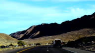 Perfectly smooth America highway across the endless desert video