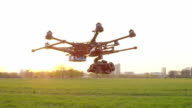 SLOW MOTION: Perfectly stabilized camera on a drone video
