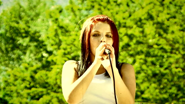 Performing outdoors video