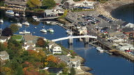 Perkins Cove  - Aerial View - Maine,  York County,  United States video