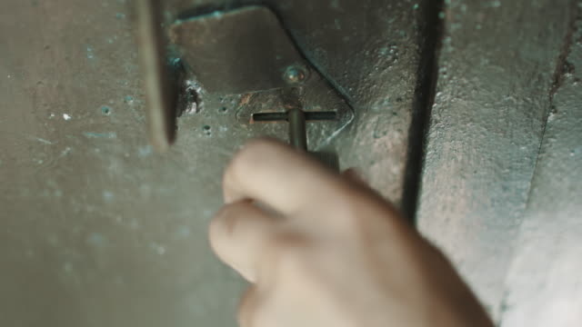 Person key opens the lock video