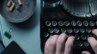 DS person typewriting on an old office desk video