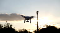 A personal drone flying through the air video