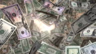 Perspective View, through Sunlight, of American Money Flying By (Loop) video