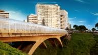 Peruvian bridge near the coastline of Lima video