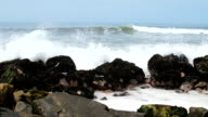 Peruvian coast ocean rocks video