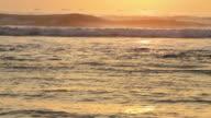 Peruvian ocean waves sunset video