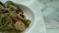 pesto spicy seafood video