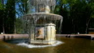 Peterhof.Fountains.Statues.Slow motion.Saint Petersburg video