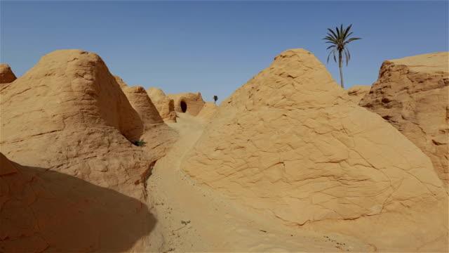 Petrified sand dunes at Debebcha near Bechri, Kebili / Tunisia video