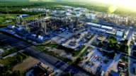 Petrochemical Oil Refinery Creating Dirty Energy Fossil Fuel Industrial Revolution video