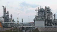Petrochemical plant at day, Time lapse video