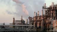 Petrochemical plant  - Oil storege tank in Refinery video