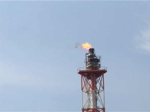 petroleum plant firing video