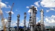 Petroleum plant - Time lapse video