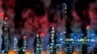 Petroleum Refinery Pan+Zoom TIME LAPSE video