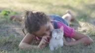 Petting a New Kitten video