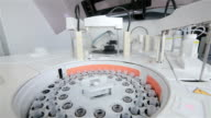 Pharmaceutical industry. Medicine manufacturing and lab equipment video