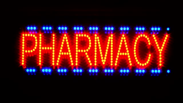 Pharmacy sign. video