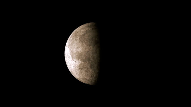 Phase of the Moon in a Full Cycle Time Lapse video