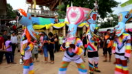 Phi Ta Khon Festaval parade,Thailand video