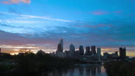 Phiadelphia skyline sunrise timelapse video