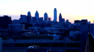 Philadelphia a timelapse from the Franklin Bridge video