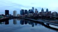 Philadelphia City center, a day to night timelapse video