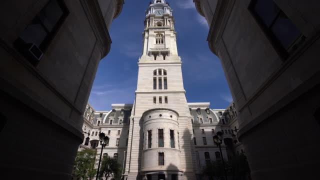 Philadelphia Cityhall with blue sky video